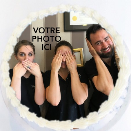 Red Velvet avec une photo en impression alimentaire
