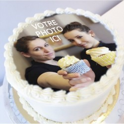 Carrot Cake avec une photo comestible